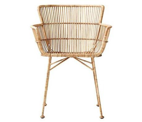 Housedoctor chaise à manger Coon rotin naturel brun 60.5x80x62cm