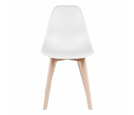 Leitmotiv Dining chair Elementary white plastic wood 80x48x38cm