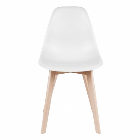 Leitmotiv CHAISE bois plastique blanc élémentaire 80x48x38cm