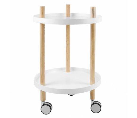 Leitmotiv Küchenwagen weißes Holz Ø40x63cm