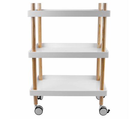 Leitmotiv Küchenwagen weißes Holz Ø50x56,5cm
