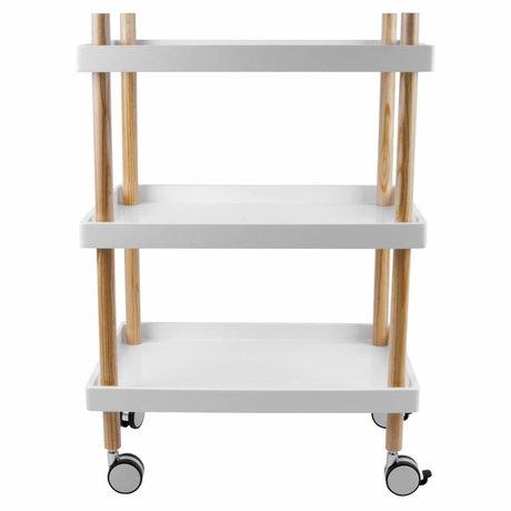 Leitmotiv Cuisine Chariot bois blanc Ø50x56,5cm
