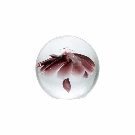 HK-living Glaskugel S Flower lila Glas 9,5cm
