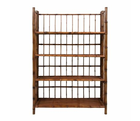 HK-living Collapsible rack brown bamboo 80x25x105cm