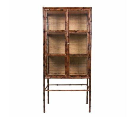 HK-living Kabinetkast bruin bamboe 70x33x153cm