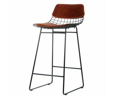 HK-living Comfort kit velvet terracotta for metal wire bar stool
