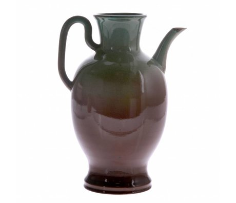 HK-living Kan L groen bruin keramiek 16,5x16,5x27cm