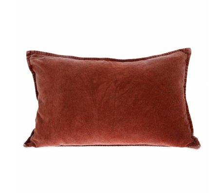 HK-living Cushion velvet terracotta velvet 40x60cm