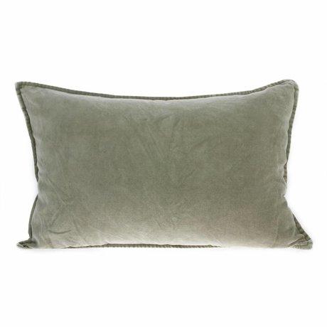 HK-living Cushion velvet green velvet 40x60cm