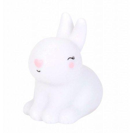 A Little Lovely Company Tafellamp konijn Bunny wit roze 8x13x13cm