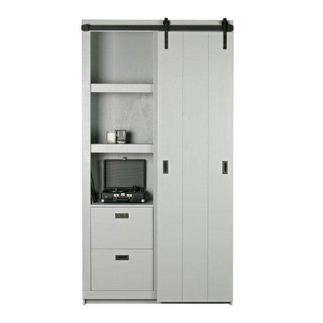 vtwonen Slide cupboard Barn wood concrete gray 230x122x37cm