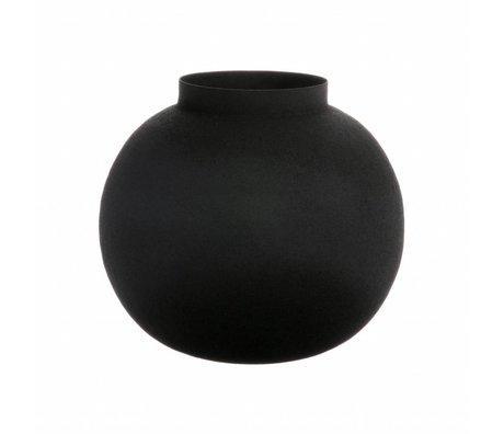 HK-living Bol schwarz Vase aus Metall 20x20x17cm
