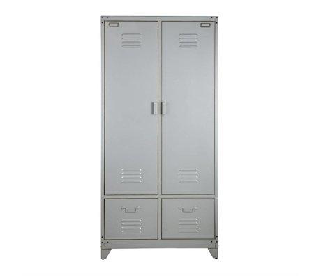 vtwonen Kast locker zilver metaal 190x90x50cm