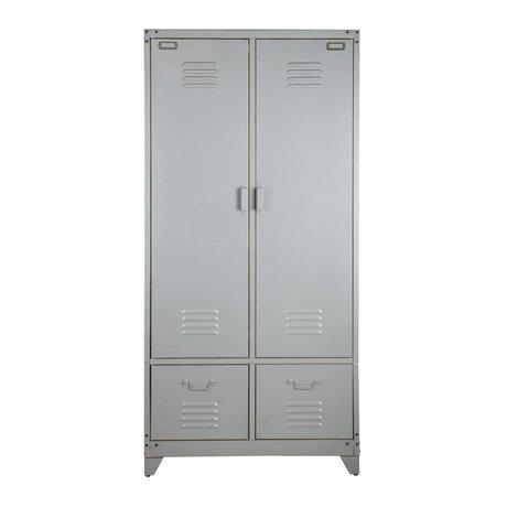 vtwonen Schrank Schrank Silbermetall 190x90x50cm