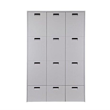 vtwonen Kabinett Shop grau Kiefer 185x119x56cm