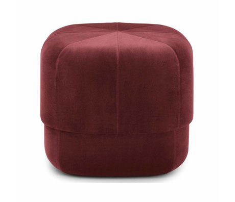 normann copenhagen pouf zirkus rosa samt klein 40x46x46cm wonen met lef. Black Bedroom Furniture Sets. Home Design Ideas