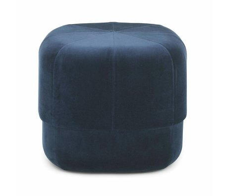 Normann Copenhagen Powder Circus dark blue velours small 40x46x46