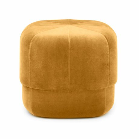 Normann Copenhagen Powder Circus yellow velours small 40x46x46cm