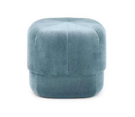 Normann Copenhagen Powder Circus light blue velours small 40x46x46