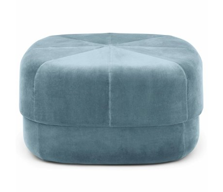 Normann Copenhagen Powder Circus light blue velours large 35x65x65cm
