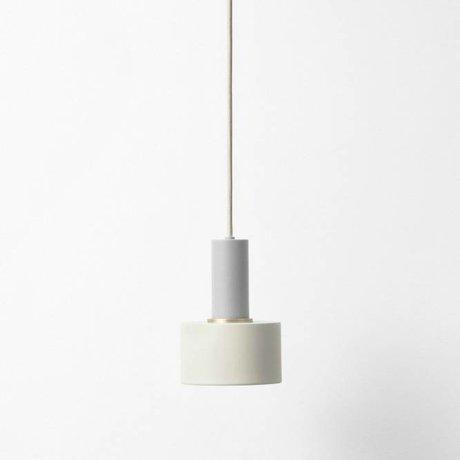 Ferm Living Hanglamp Disc low licht grijs metaal