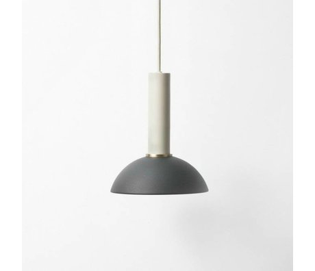 Ferm Living Hanglamp Hoop high black light gray metal