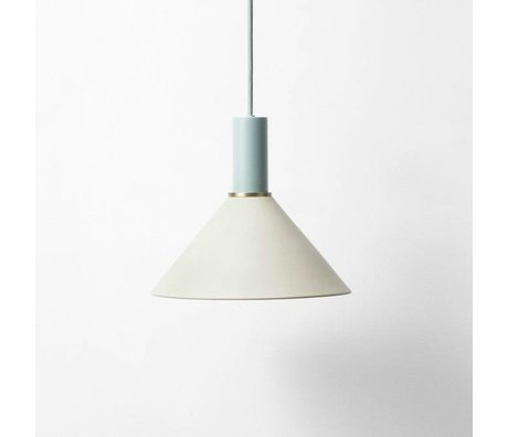 Ferm Living Hang lamp Cone low light gray dusty blue metal