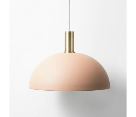 Ferm Living Hanglamp Dome low pink brass gold metal