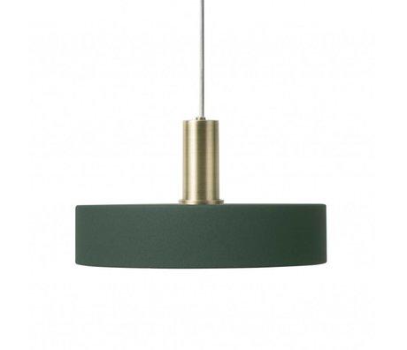 Ferm Living Hanglamp Record low donker groen brass goud metaal