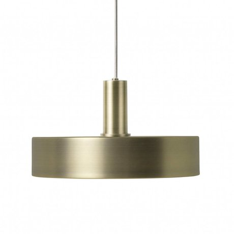 Ferm Living Hanglamp Record low brass goud metaal