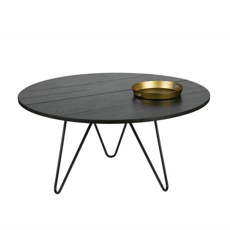vtwonen Eettafel Circle zwart eiken XL Ø150x75cm
