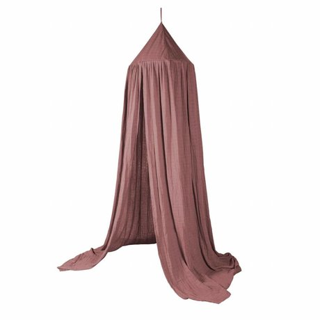 Sebra Sebra klamboe Midnight Plum roze katoen 240x52cm