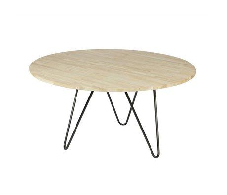 vtwonen Eettafel Circle bruin eiken XL Ø150x75cm