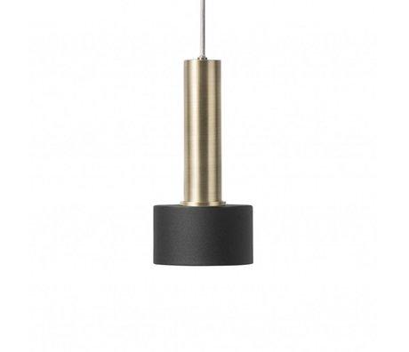 Ferm Living Hanglamp Disc zwart high  brass goud metaal