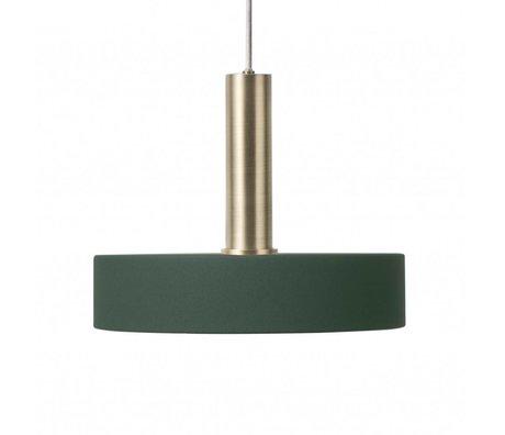 Ferm Living Hanglamp Record high zwart brass goud metaal