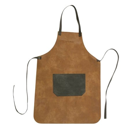 BePureHome Apron Cooking Apron brown leather 95x71cm