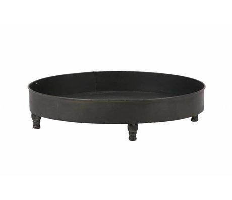 BePureHome Dienblad Curve black metal 10,5x46x46cm