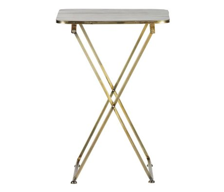 BePureHome Beistelltisch Foldaway Messing Antik Gold Metall 67x46x46cm
