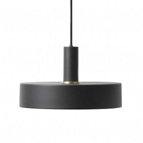Ferm Living Hanglamp Record low zwart metaal