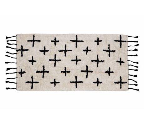 BePureHome Mehr Teppich aus weißer Baumwolle 70x140cm