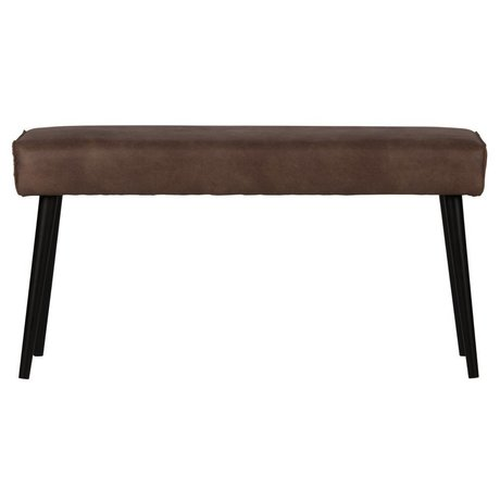 BePureHome Dining bench Revolution chocolate brown leather 51x100x36cm