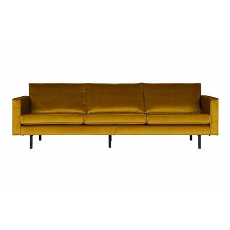 BePureHome Bank Rodeo 3-zits oker geel fluweel velvet 85x277x86cm