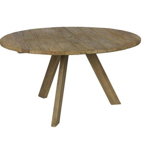 BePureHome Gastronomie Tondo natürliches braunes Holz Ø140x76cm