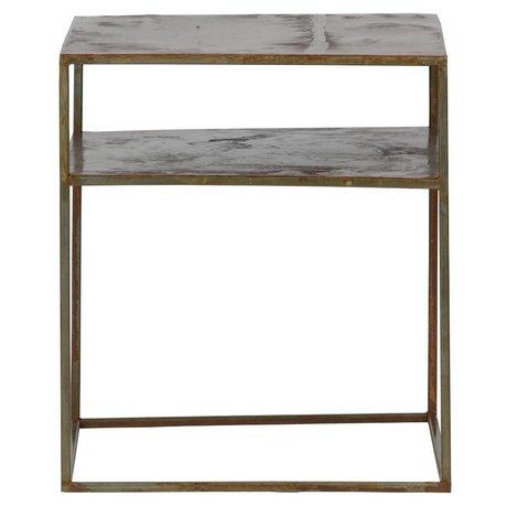 BePureHome Side table Weldone rust orange metal 45x40x40cm