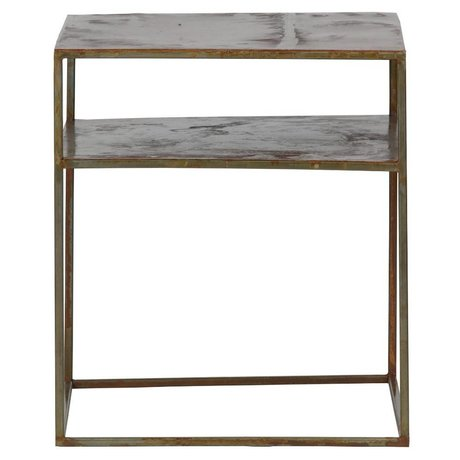 BePureHome Table d'appoint en métal bien fait rouille orangée 45x40x40cm