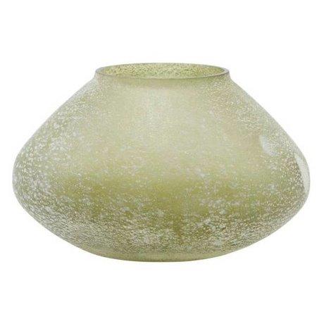 Housedoctor Vaas Miles groen glas 13,5x8cm
