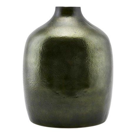 Housedoctor Vaas Deep groen glas metaal 24,5x29,5cm