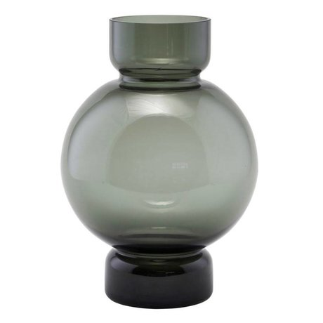 Housedoctor Vase Bubble gray glass 17,5x25cm