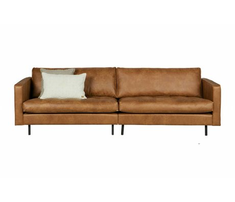 BePureHome 3-seater sofa Rodeo classic cognac brown leather 275x88x83cm