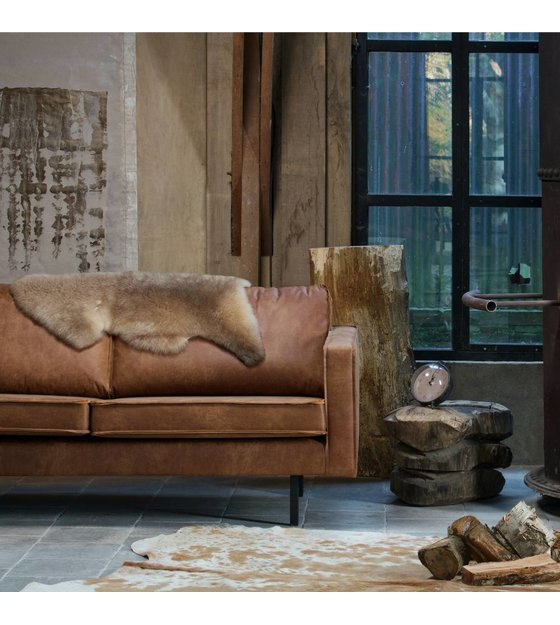 Beautiful 2 5 Seat Cognac Brown Leather Sofa From Bepurehome Bank Rodeo Has A Modern Luxurious And Contemporary Look With Loose Cushions